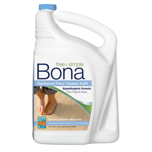 bona free u0026 simple hardwood floor cleaner 160 oz