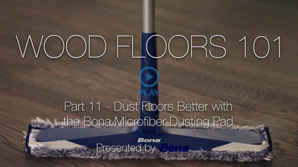 Dust Floors Better With The Bona Microfiber Dusting Pad