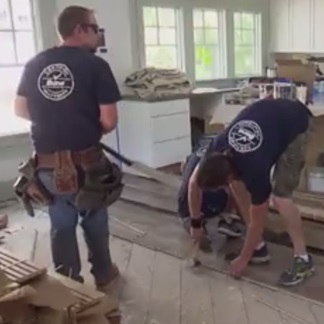 &lt;p&gt;Get the facts on a pre-finished floor installation at 0:42.&lt;/p&gt;<br/>