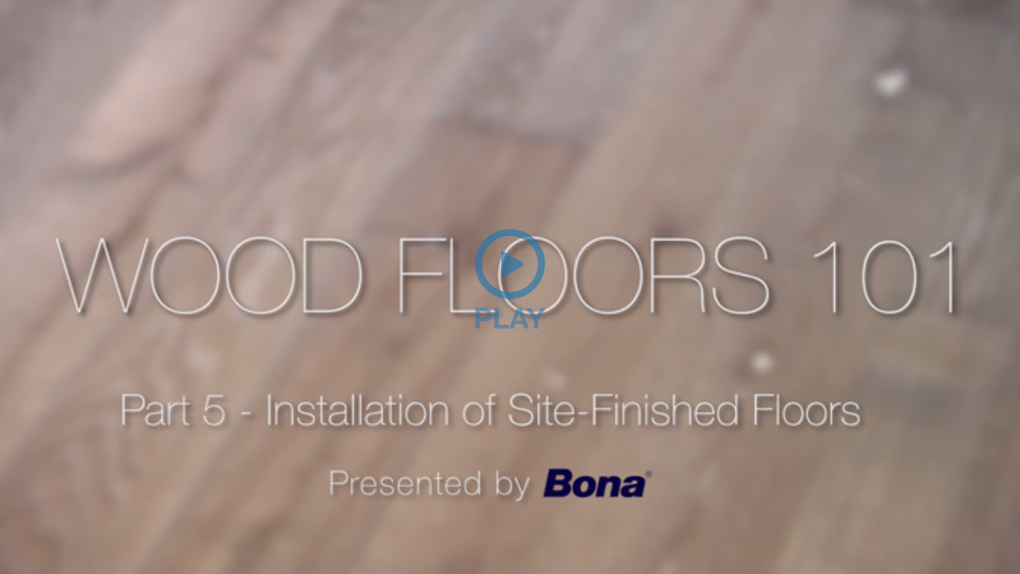 Installation Of Site Finished Floors