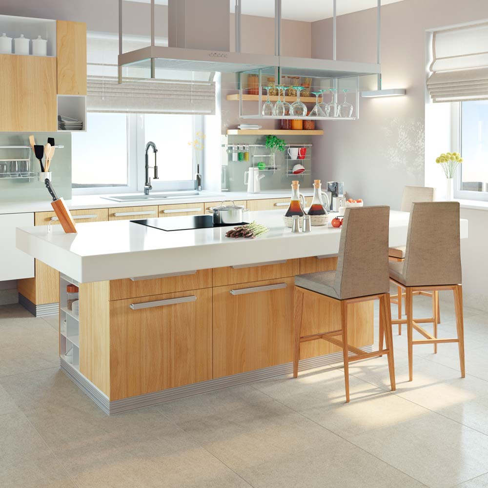 <p>Natural stone can increase the value of your home. New innovations can make materials mimic natural surfaces like wood. Waterproof, great choice for kitchens and bathrooms.</p><br/>