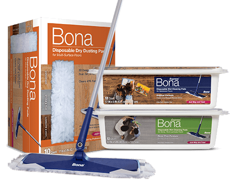 When there's no time, there's always time for the Bona Quick Clean System.