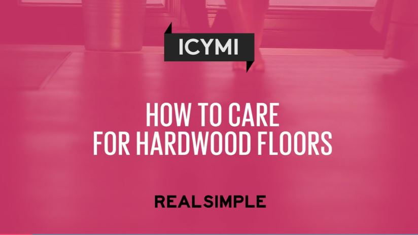 They recommend Bona Hardwood Floor Cleaner for a weekly clean