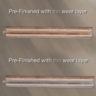 &lt;p&gt;Jump to 0:56 to learn about the importance of pre-finished flooring&amp;rsquo;s wear layer.&lt;/p&gt;<br/>