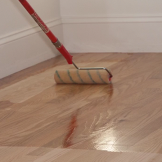 <p>Find out how long floors need to cure before you can fully enjoy them at 0:57 in the video.</p><br/>